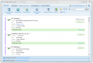 Acronis TrueImage 2013