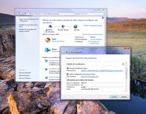 Dépannez Windows 7, à travers le Centre Réseau et partage