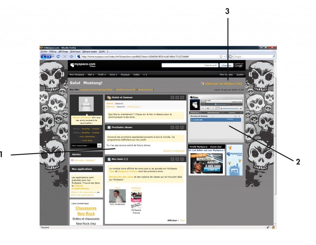Maîtrisez l'interface de MySpace