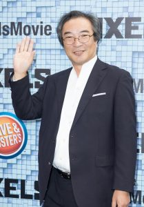 Toru Iwatani lors de l'avant-première du film Pixels dans lequel il apparaît