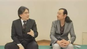 Satoru Iwata et Yoshio Sakamoto, en 2011