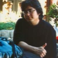 Satoru Iwata sur sa mobylette, en 1980