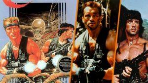 La pose du héros sur la jaquette, dessinée par Bob Wakelin, est directement inspirée de Predator