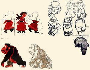 Premières esquisses de Shigeru Miyamoto, 1980