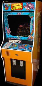 La borne d'arcade de Donkey Kong Jr.