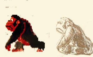 Premières esquisses de Donkey Kong