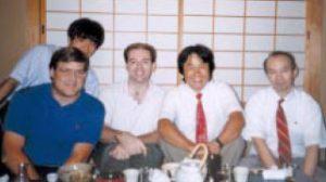 De gauche à droite, Don James, Hiro Yamada, Mark Haigh-Hutchinson, Shigeru Miyamoto et Kenji Miki, en 1996