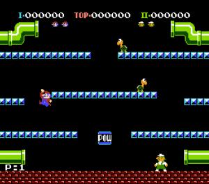 La première apparition de Luigi, alors jumeau parfait de Mario