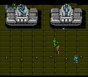 Un niveau vu du dessus dans Probotector II
