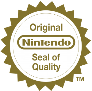 Le sceau de qualité européen (reconnaissable par sa forme ronde, contre une forme ovale pour les jeux NTSC) apposé par Nintendo