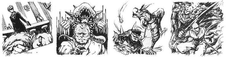 Crayonnés de Masato Kato pour Ninja Gaiden