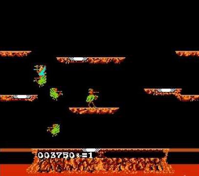 Joust pour Famicom, développé par Satoru Iwata