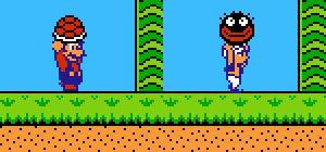 Mario (Super Mario Bros. 2) face à Imajin (Yume Kōjō: Doki Doki Panic)