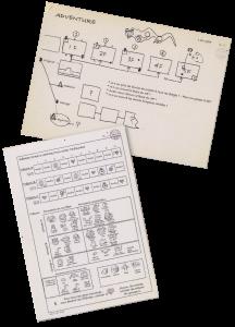 Les spécifications d'origine (1er février 1985 en haut, 13 décembre 1985 en bas)