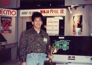 Akihiko Shimoji au CES de Las Vegas, en 1990