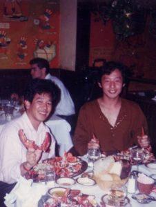 Akihiko Shimoji et Shinichiro Tomie à Los Angeles en 1990