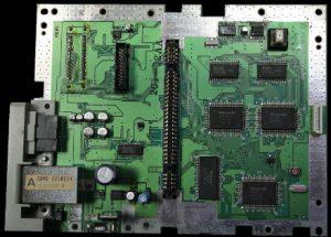 La carte mère de la Super Famicom