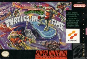 La jaquette de Turtles in Time signée Tom Dubois
