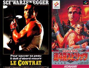 La jaquette japonaise de Contra III reprend l'affiche du film ... Le Contrat