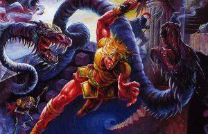 L'une des oeuvres les plus célèbres de Tom Dubois, la jaquette de Super Castlevania IV
