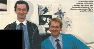 Chris et Tim Stamper, en 1989