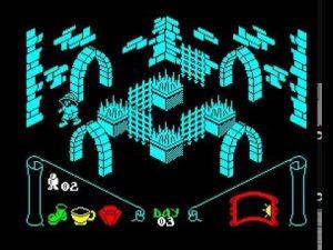 Knight Lore (1984), avec son rendu en 3D isométrique